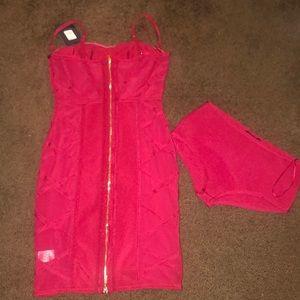 Fashion Nova Dresses - Fashion Nova Red Bandage Dress